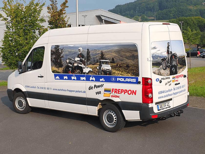 Fahrzeugbeschriftung Freppon