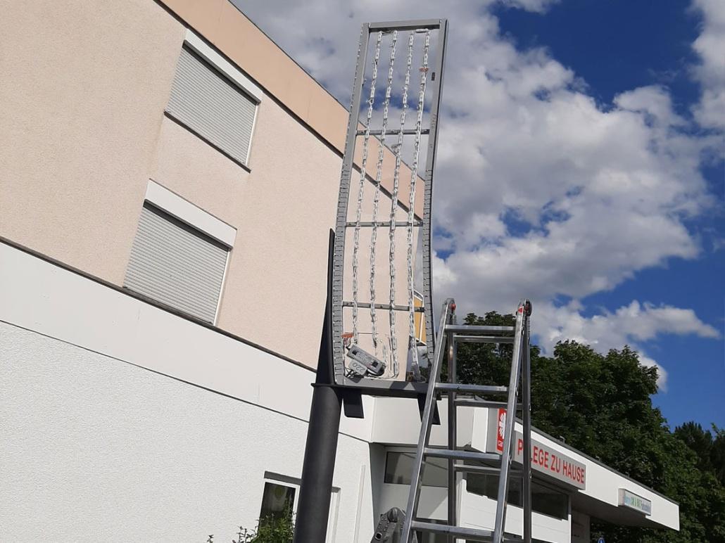 Leuchtwerbung Montage Aschaffenburg