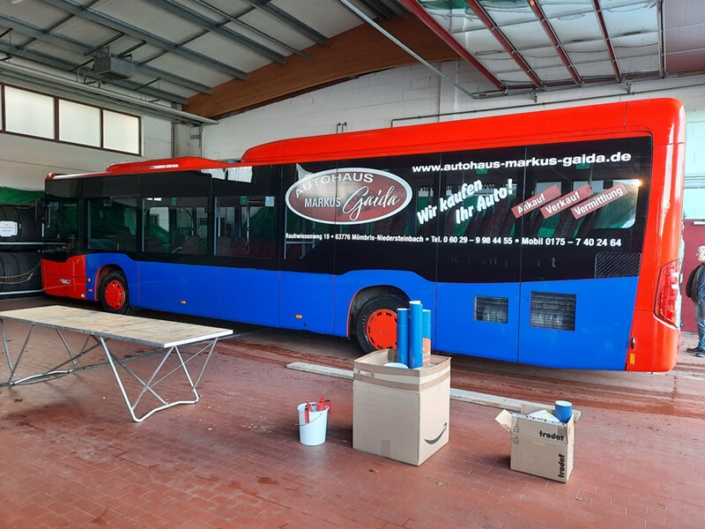Stadtbus Folierung