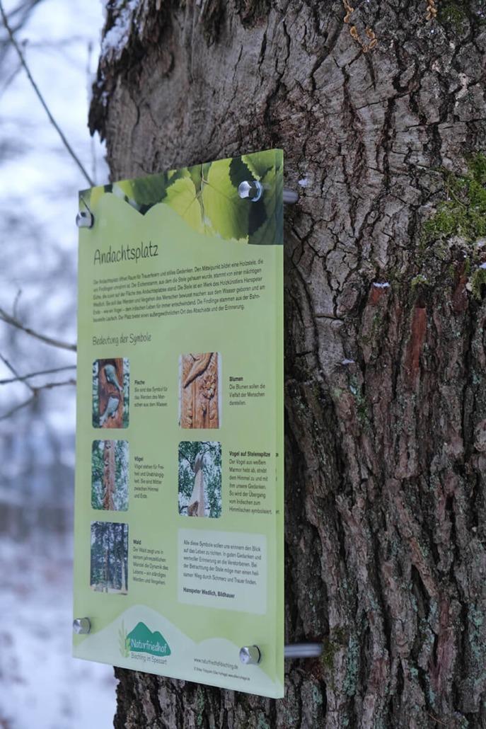 Schilderanlage Naturfriedhof